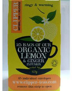 Lemon & Ginger Infusion Tea Organic 25 bags