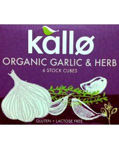 Stock Cubes Garlic & Herb Organic 66gram